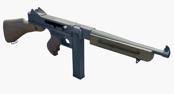 gun tommy 1941 3D model