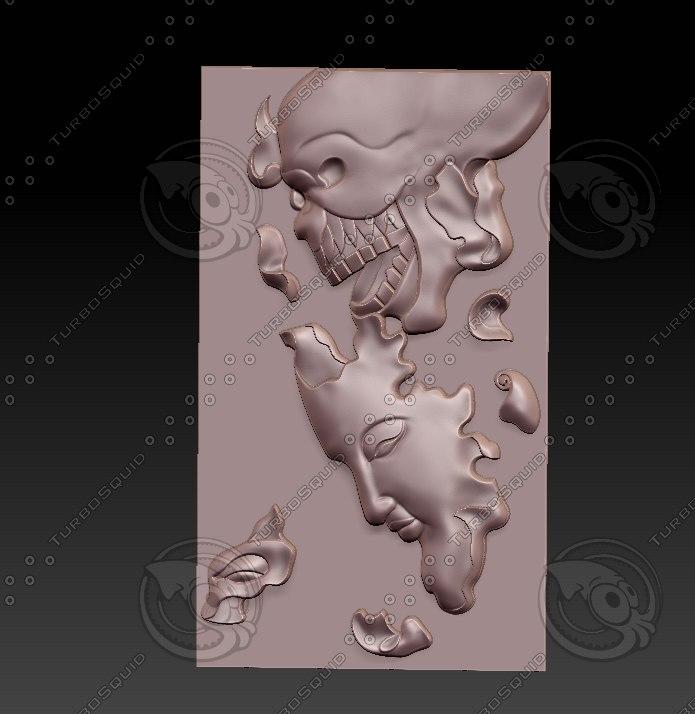 stl face 3D model