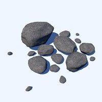 3D group rocks model