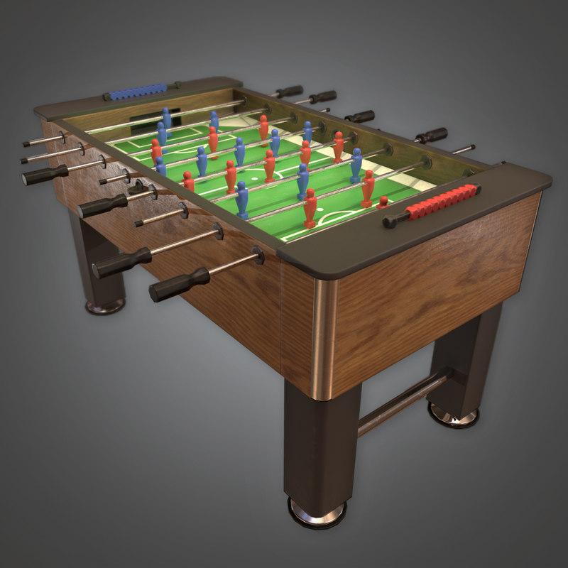 ball foosball 3D