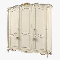 Signorini & Coco Collezione 3 Door Wooden Wardrobe