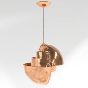3D mettal loft lamp