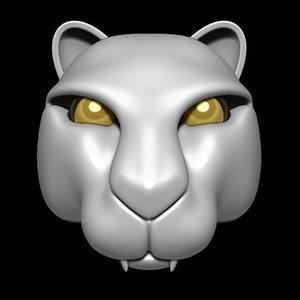 3D puma head