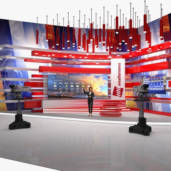 tv presenter weather forecast 3D model