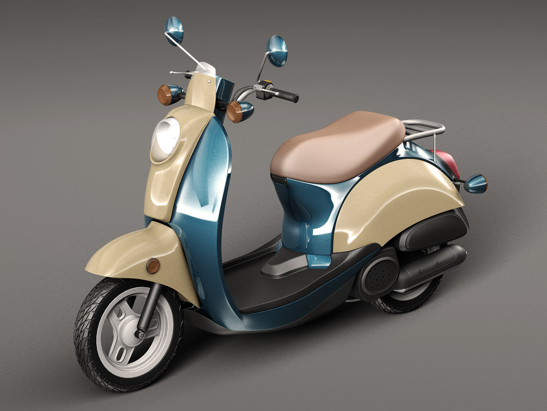 3D classic scooter motorbike model