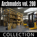 3D model archmodels vol 200 warehouse