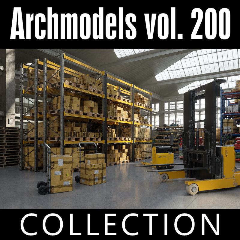 3D model archmodels vol 200 warehouse