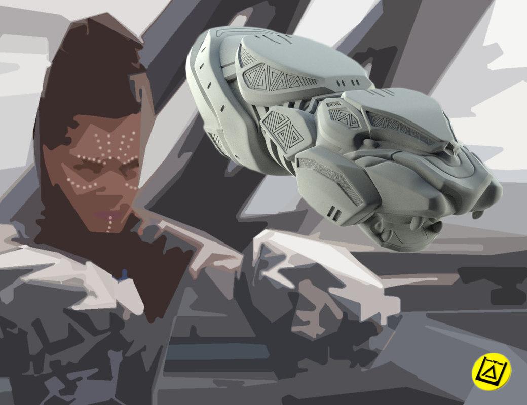 shuri vibranium blasters model