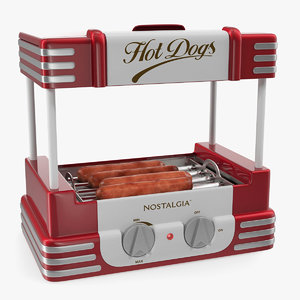 retro hot dog roller 3D model