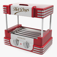 3D retro hot dog roller model