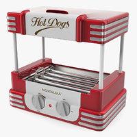 3D retro hot dog roller model