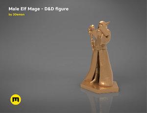 elf mage character figures 3D model