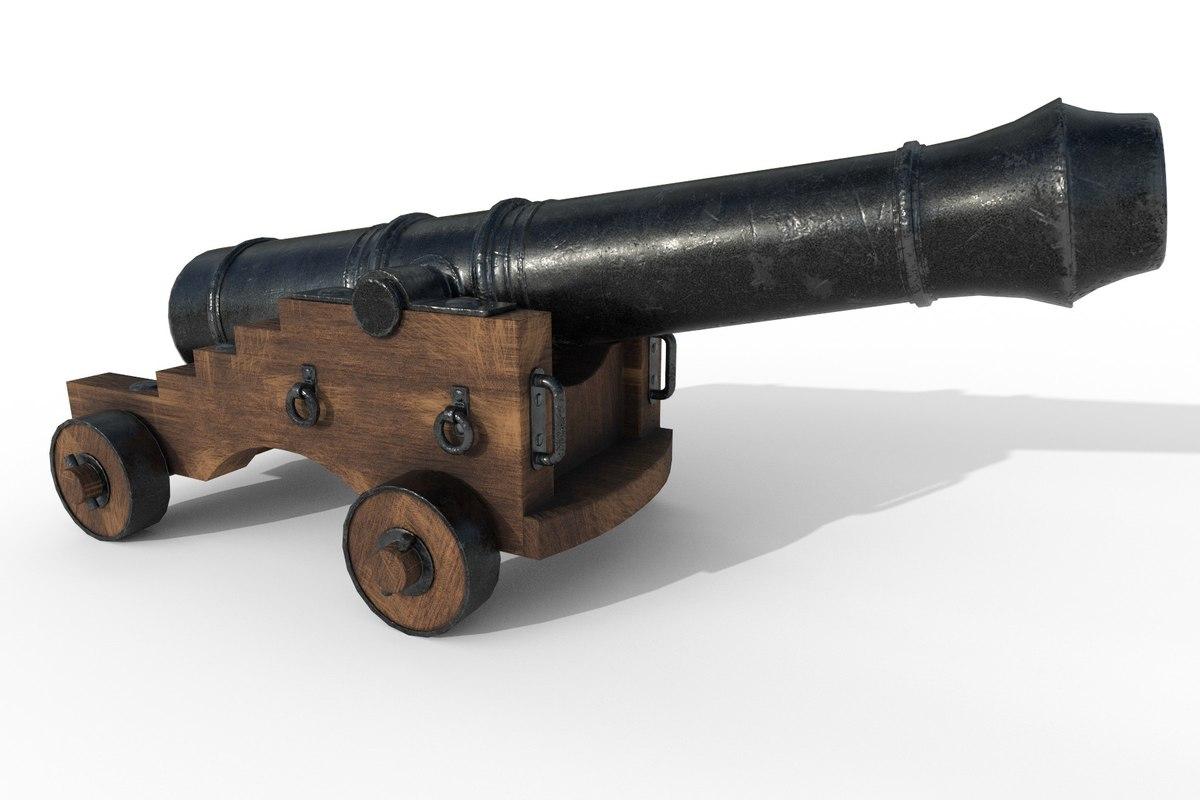3D gun ships pbr