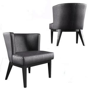 3D boss ava accent chair-black