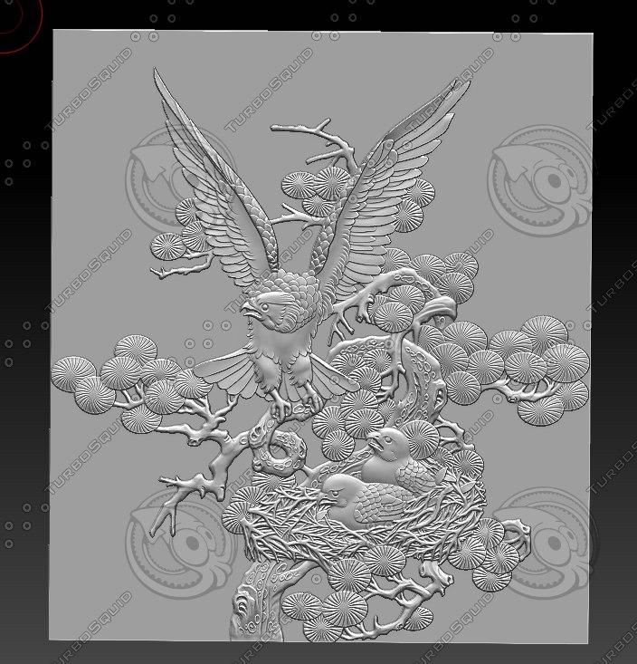 stl eagles 3D model