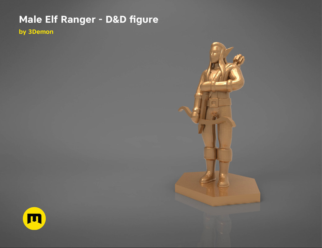 elf ranger character figures 3D model