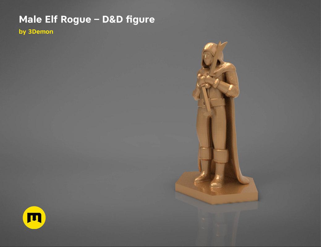 elf rogue character figures 3D model