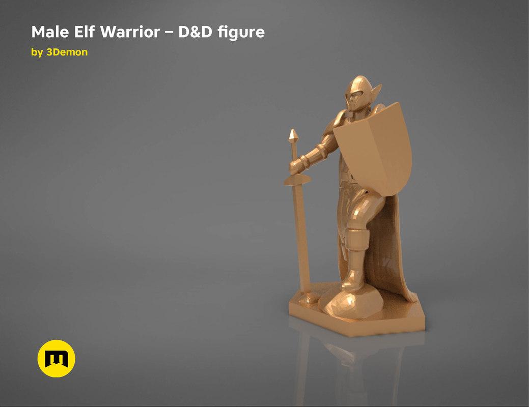 elf warrior character figure 3D
