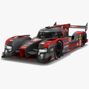 audi r18 2016-spec technology 3D model