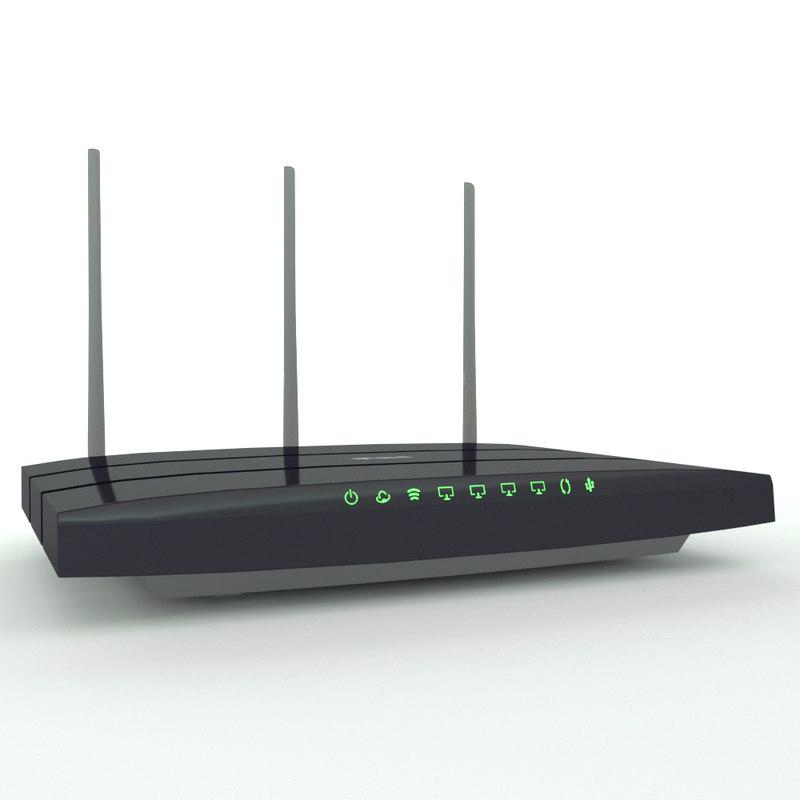 generic router 3D model
