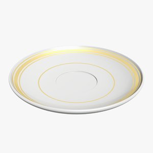 3D saucer tableware utensils