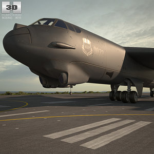 3D boeing b-52 b model