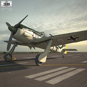 3D model focke-wulf fw 190
