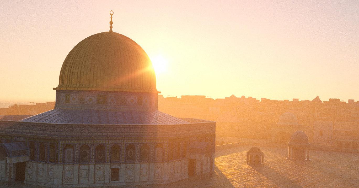 3D historical jerusalem city dome
