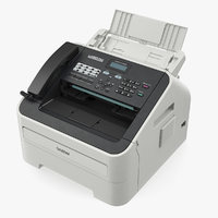 Compact Laser Fax Machine Brother 2840 3D Model