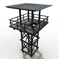 watchtower architecture 3D model