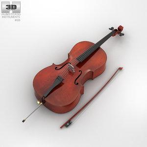 cello music instrument 3D model