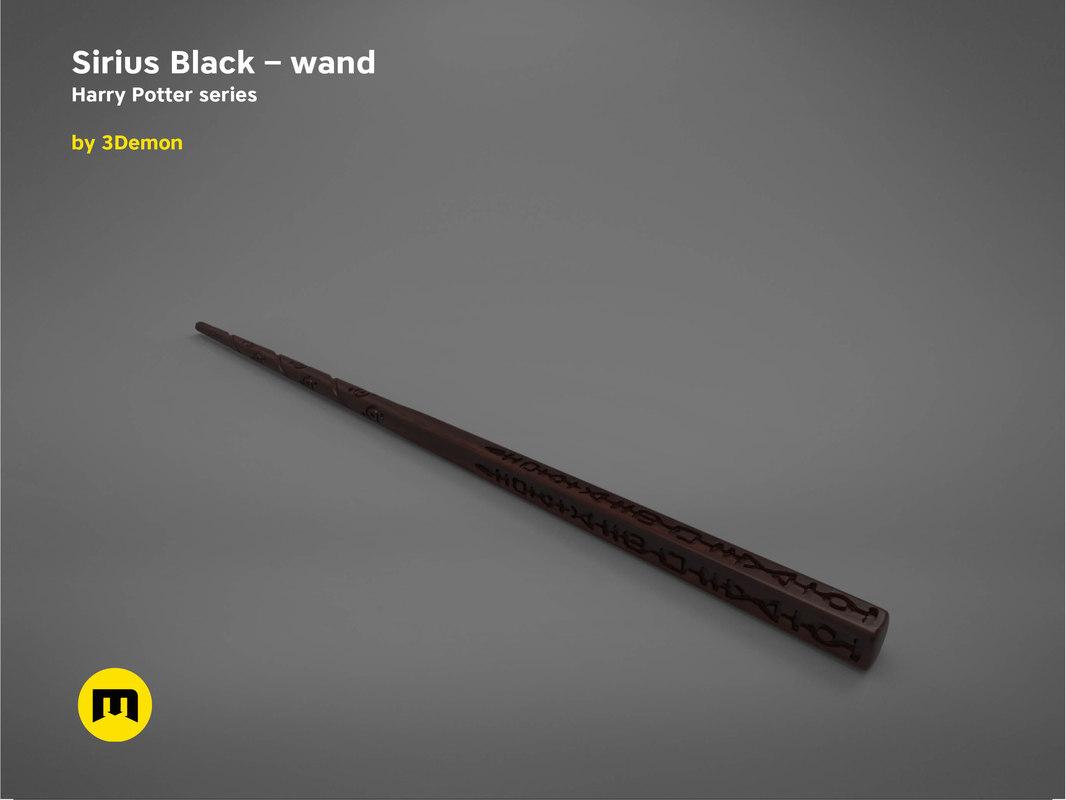 3D sirius black wand -
