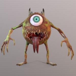 mike wazowski scary model