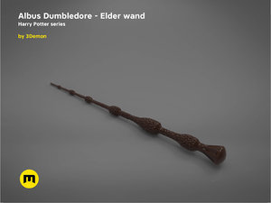 albus dumbledore elder wand 3D model