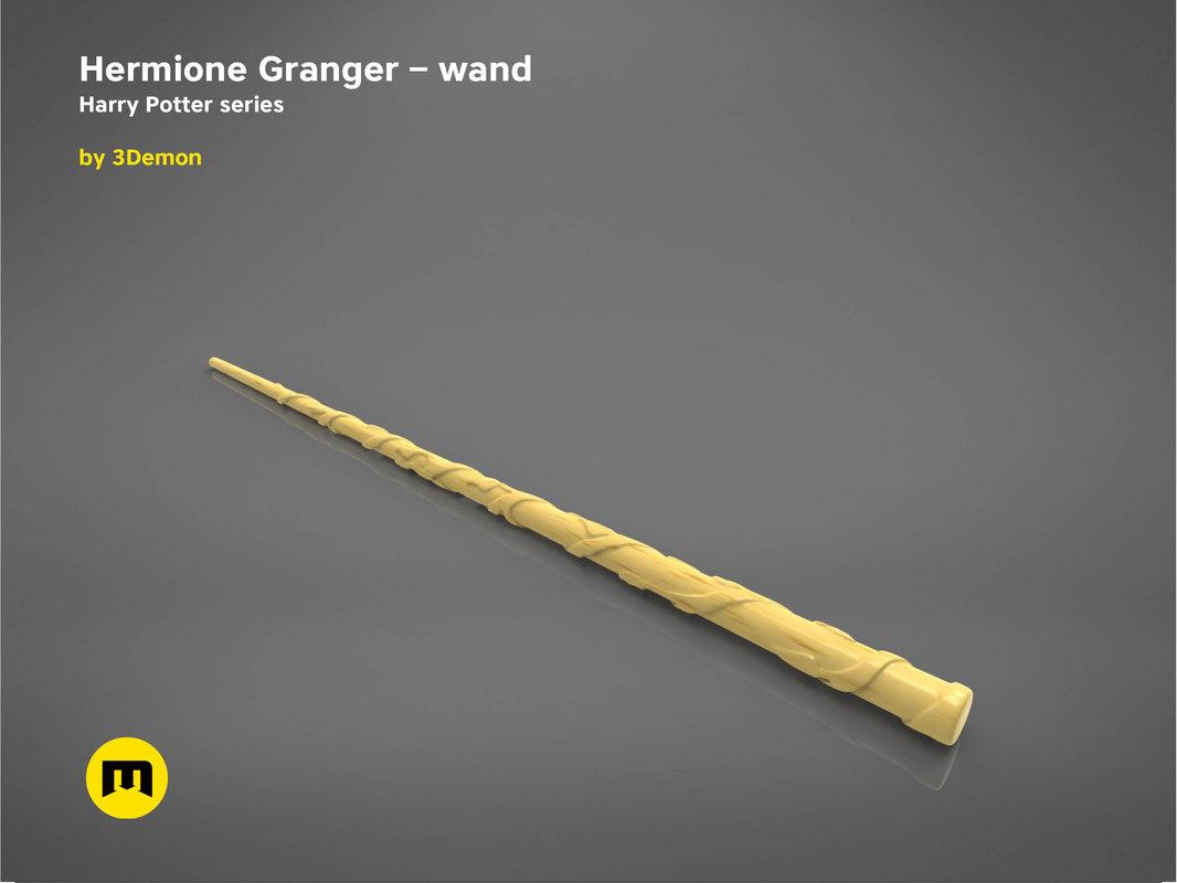 3D model hermione granger wand -