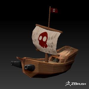 pirate boat model