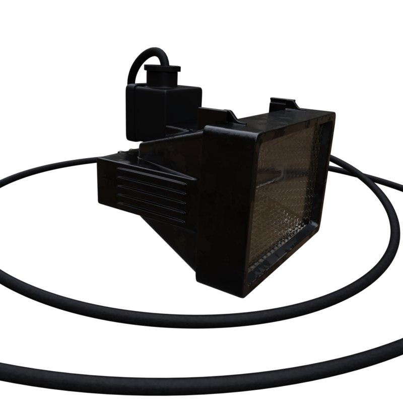 construction spotlight 3D model