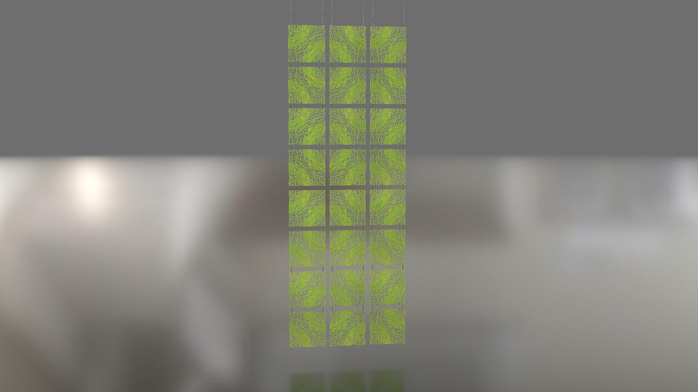 3D decorative pendant divider model