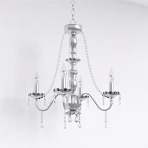 3D cherrywood randolph chrome crystal chandelier