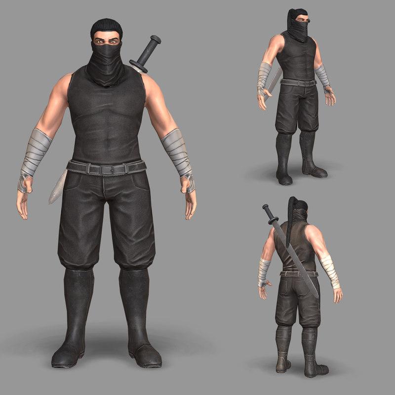 3D unity ninja model