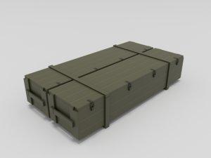 3D military box model
