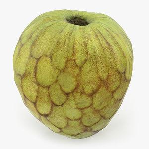 cherimoya annona cherimola fruit 3D