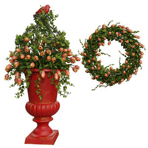 vase wreath decorate 3D model
