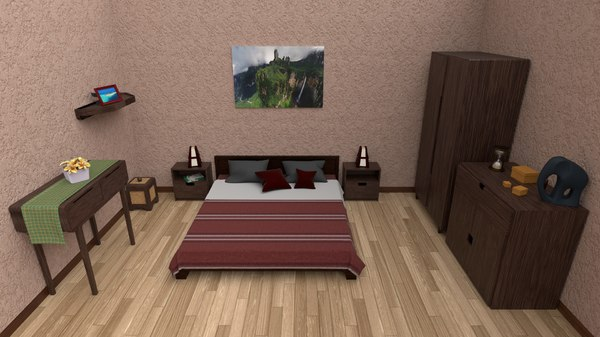 ethnic bedroom bed model
