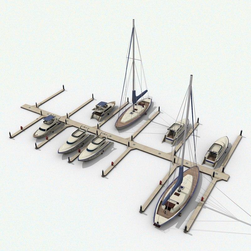 piers yachts 3D model