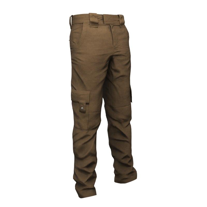 3D clothing pants