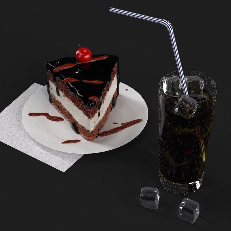 glasses cake 3D