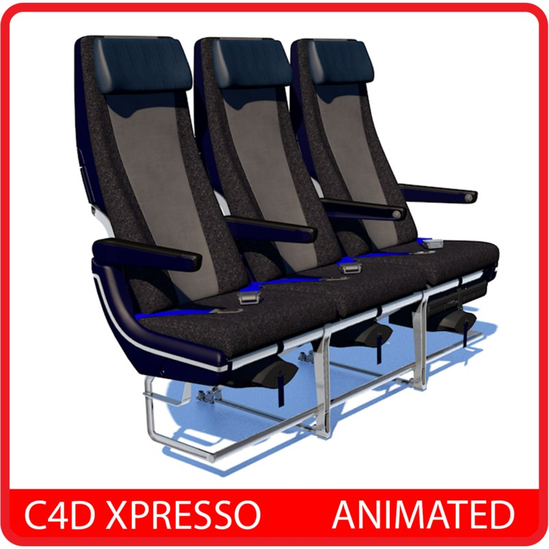 Terrific Airplane Economy Seat Animated C4D Xpresso Bralicious Painted Fabric Chair Ideas Braliciousco