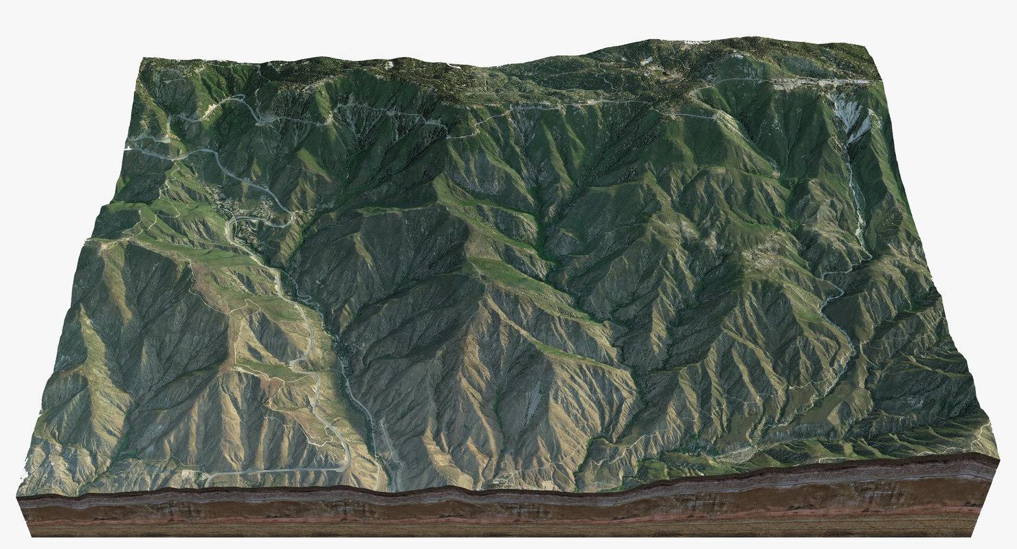 san bernardino mountains 3D