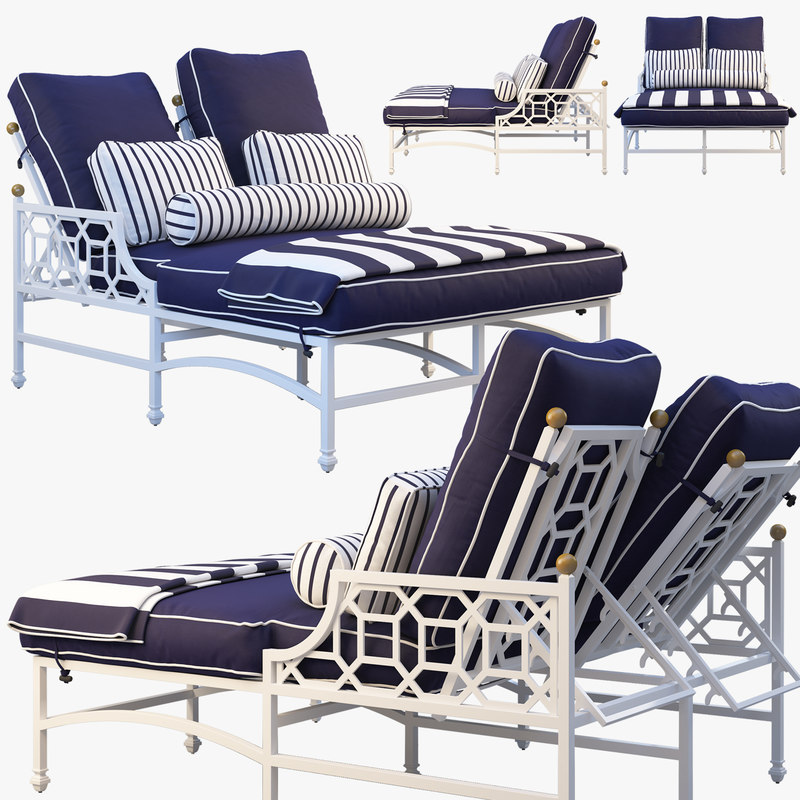 3D barclay butera double chaise